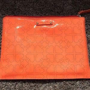 Flawed* Kate Spade Neon Orange Clutch